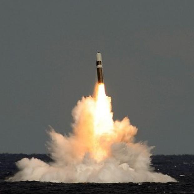 Witney Gazette: An unarmed Trident ballistic missile fired from HMS Vigilant during a test launch