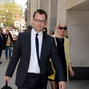 Witney Gazette: Former News of the World Editor Andy Coulson at the Old Bailey with his wife Eliose