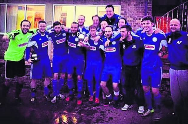 Witney Gazette: West Witney celebrate their Premier Division title win