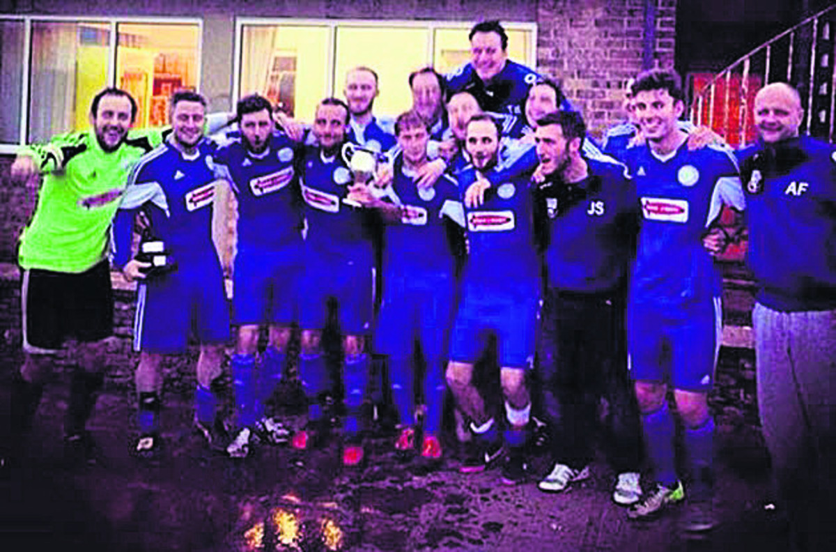 West Witney celebrate their Premier Division title win