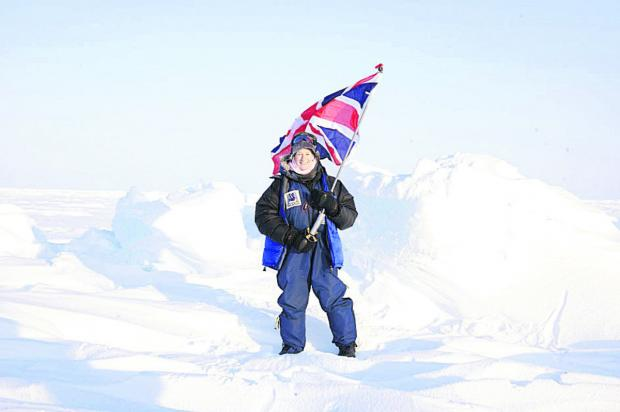 Jan Meek on an expedition to the North Pole in 2008