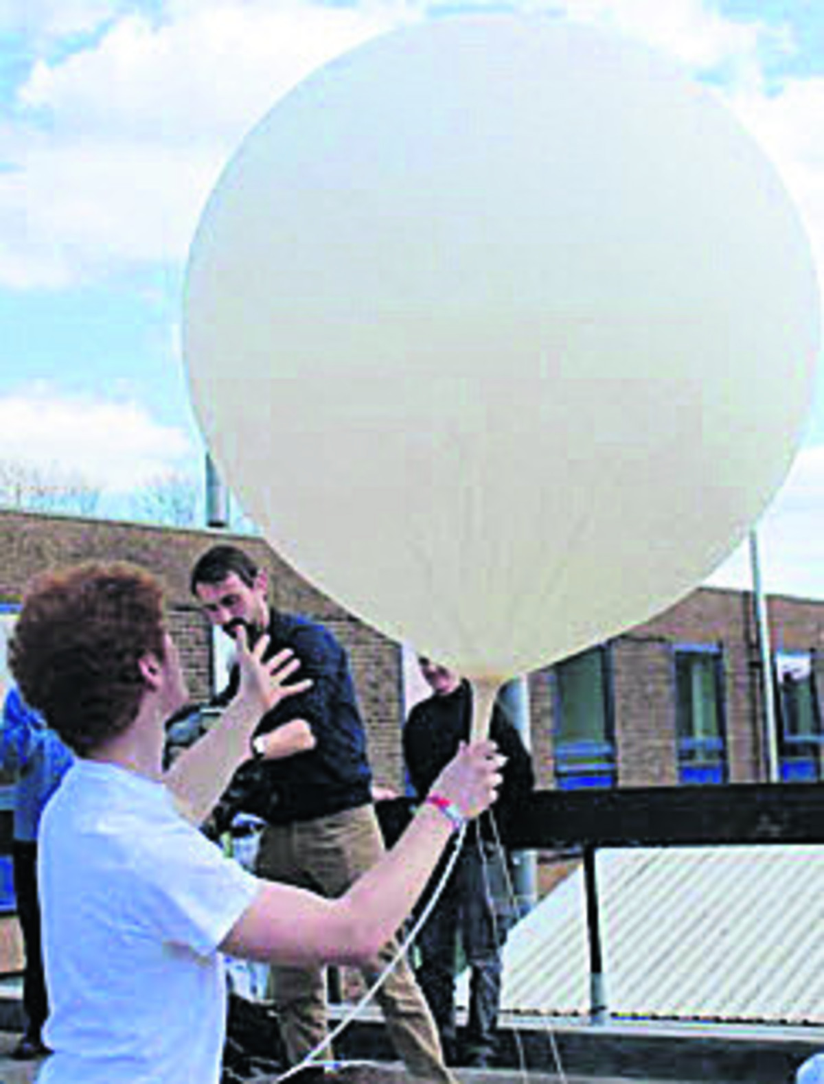 University of Nottingham's PhysSoc society launching the balloon on Friday