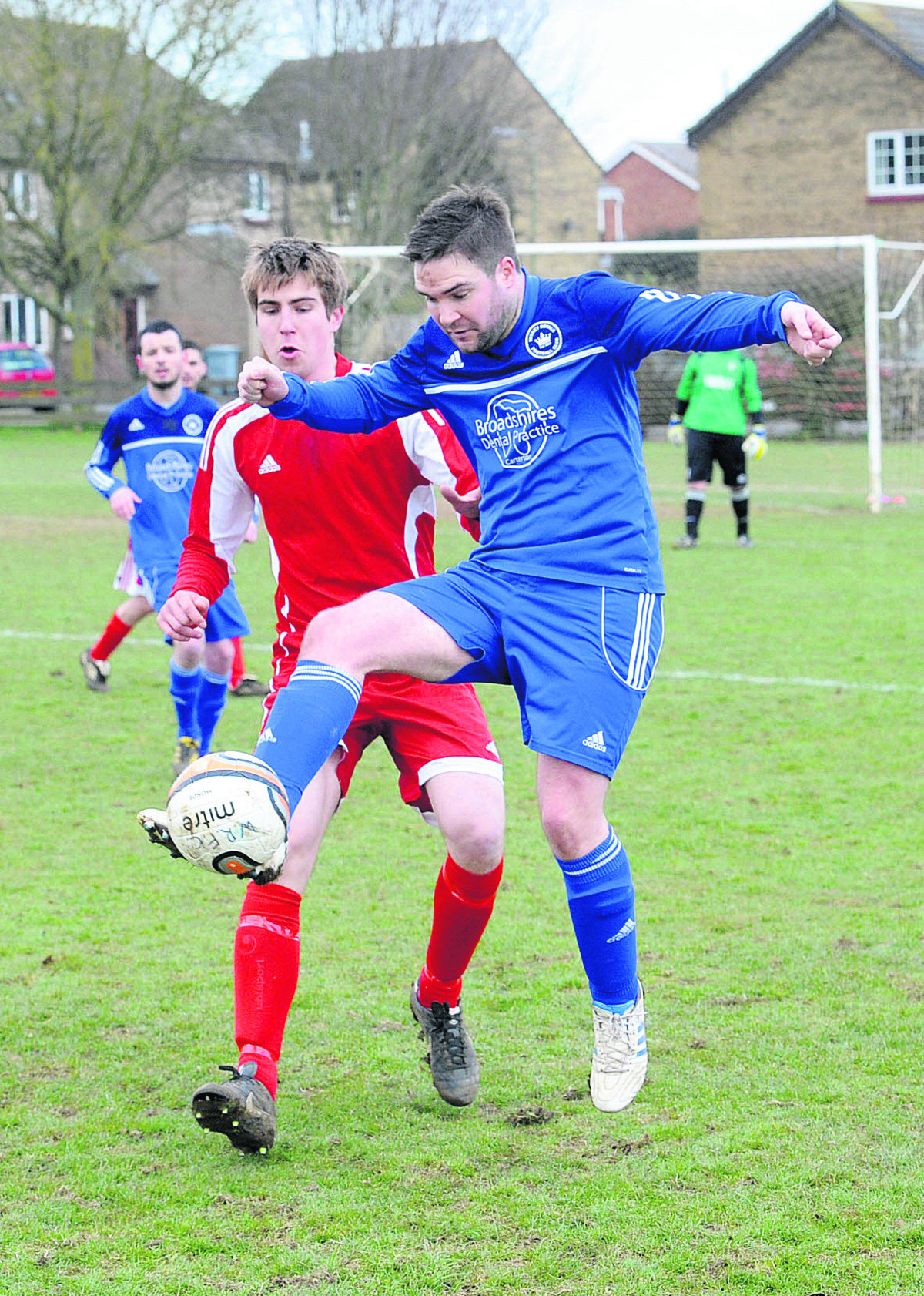 Jamie Goodwin scored a hat-trick as Division 4 champions Tower Hill thrashed Eynsham SSC Res 14-3