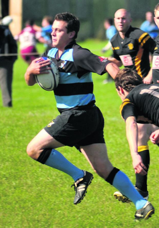 Witney Gazette: Carl Strutt scored one of Witney's tries as they wrapped up their campaign with a 34-14 win at Swindon