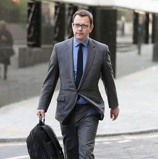 Former News of the World editor Andy Coulson arrives at the Old Bailey, a
