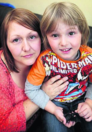 Tracy Simpson and son Luke Venney, four.  Picture: OX66685 Damian Halliwell
