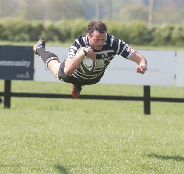 Chinnor captain Liam Gilbert scores his second try in spectacular fashion