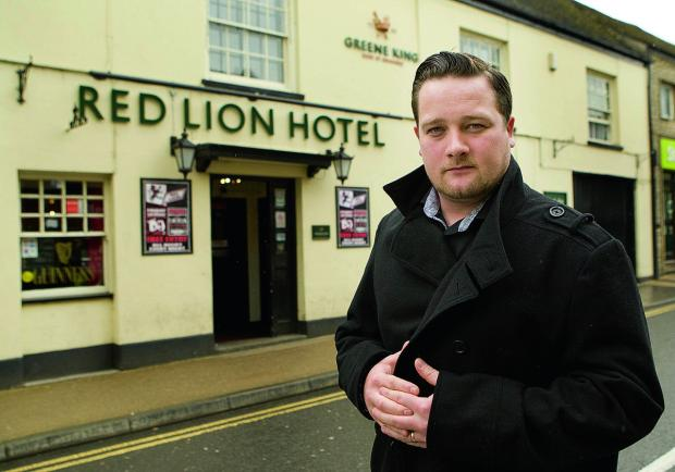 Witney Gazette: Witney pub landlord Tom Pauling has spoken about the violent attack early on Sunday that saw one of his customers taken to hospital           Picture: OX66927 Antony Moore