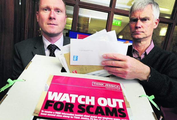 Richard Webb, head of Oxfordshire County Council's Trading Standards department, left, and David Soward, from Oxfordshire Consumer Empowerment Partnership