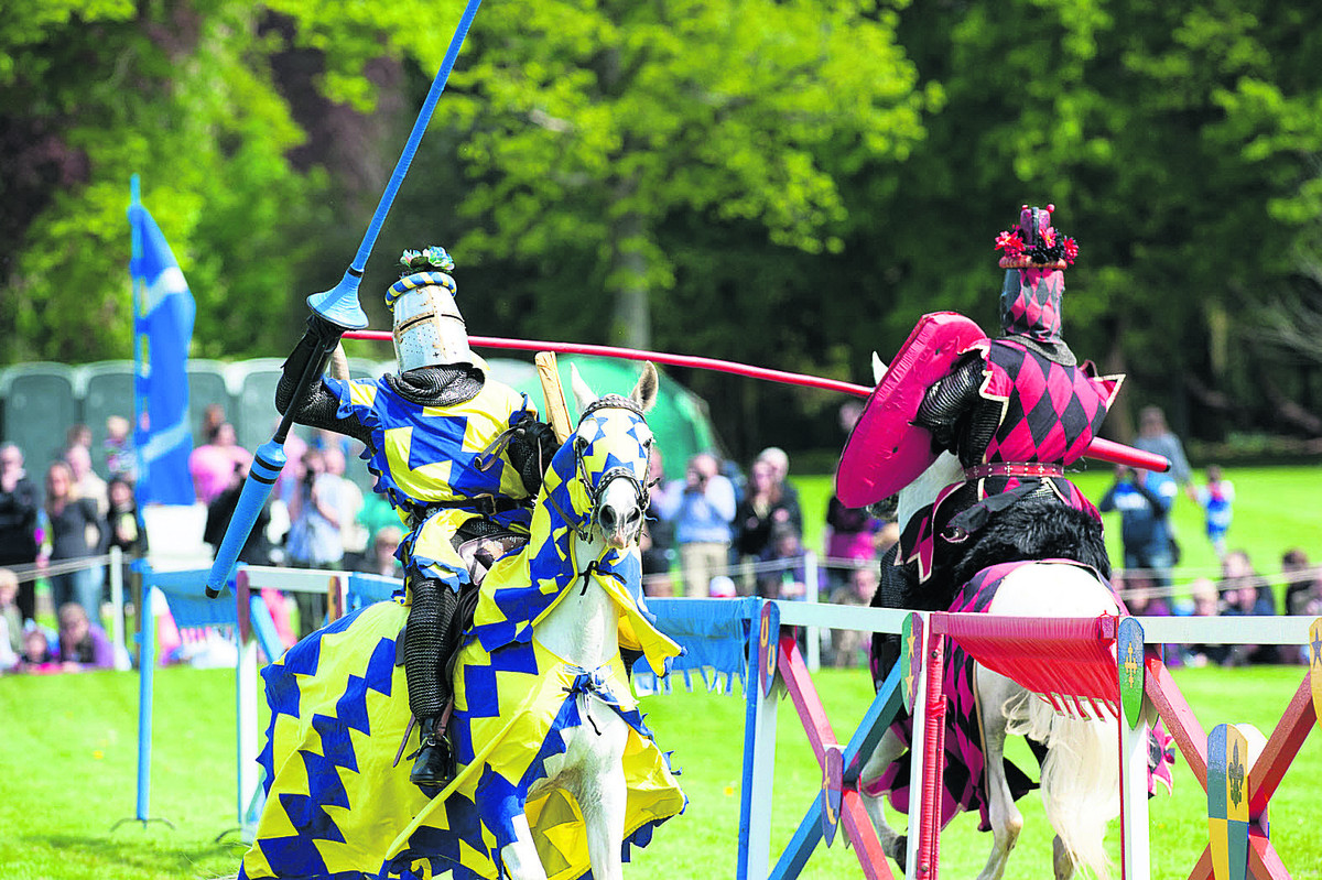 Age of chivalry comes to life at Blenheim jousting contest
