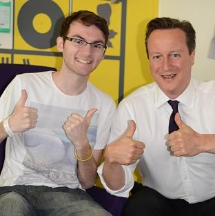 Witney Gazette: Stephen Sutton was discharged from hospital hours after meeting David Cameron