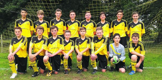 North Leigh Under 14s who won the A League and Knockout Cup