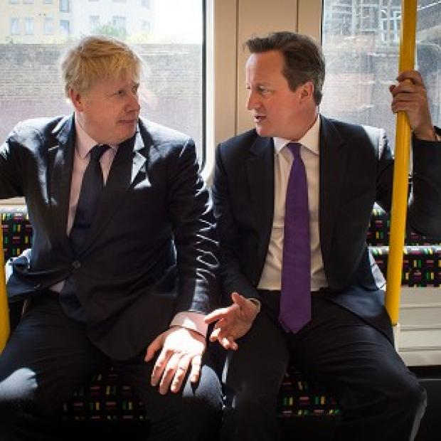 Witney Gazette: Mayor of London Boris Johnson and Prime Minister David Cameron on the campaign trail