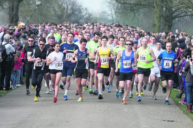 The annual OX5 Run at Blenheim Palace, organised every year by the Oxford Mail to raise funds for the Oxford Children's Hospital