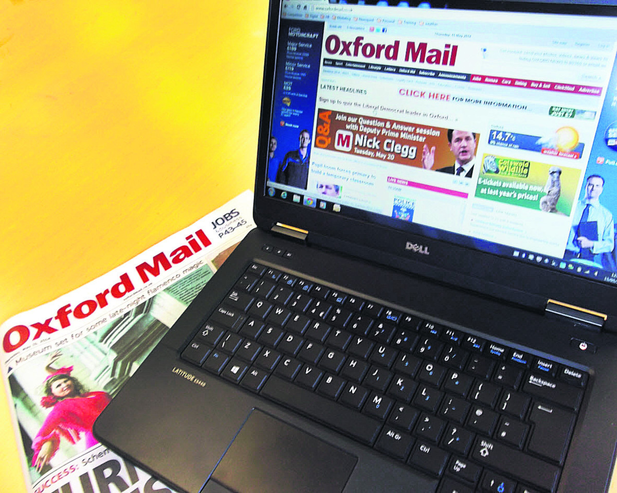 The Oxford Mail website