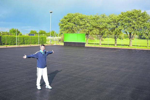 Witney Lawn Tennis Club chairman Chris Pyne on the resurfaced courts