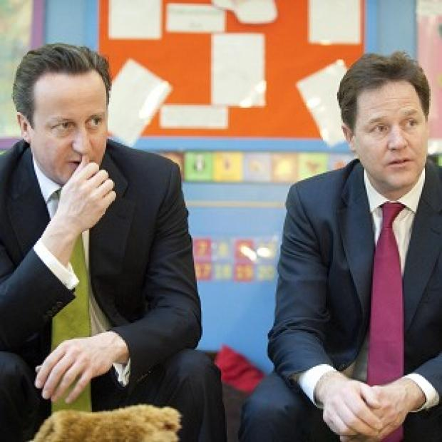 Witney Gazette: David Cameron says he has a good working relationship with Nick Clegg