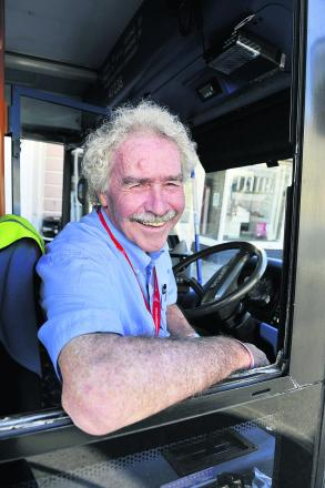 Bob Stannard who is retiring as a bus driver after 32 years. Picture: OX67219 Mark Hemsworth