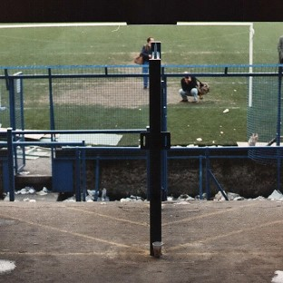 The terraces at the Hillsborough football ground