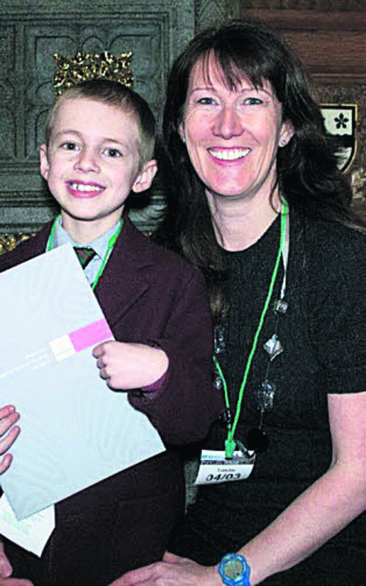 Cheryl Davis with her son Miles.