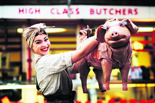 Witney Gazette: Lauran Logan plays Betty and apparently her co-star is a talking pig