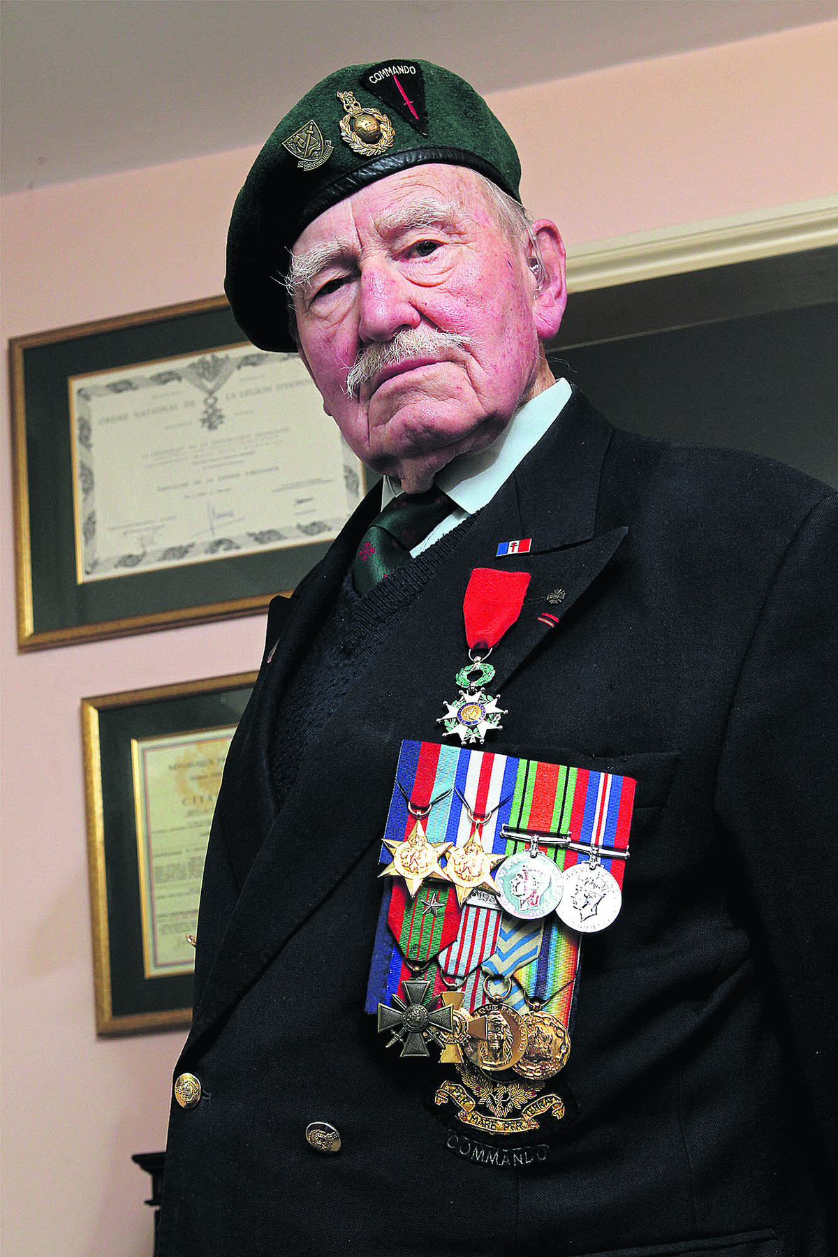 Patrick Churchill took part in the Allied invasion as a Royal Marine Commando.