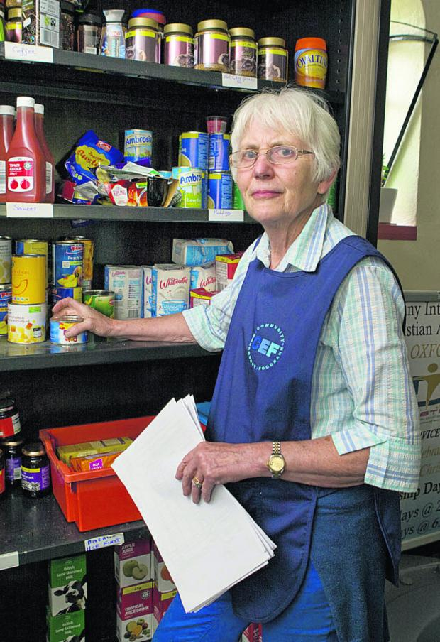 Witney Gazette: Jane Benyon at the Community Emergency Foodbank in Cowley
