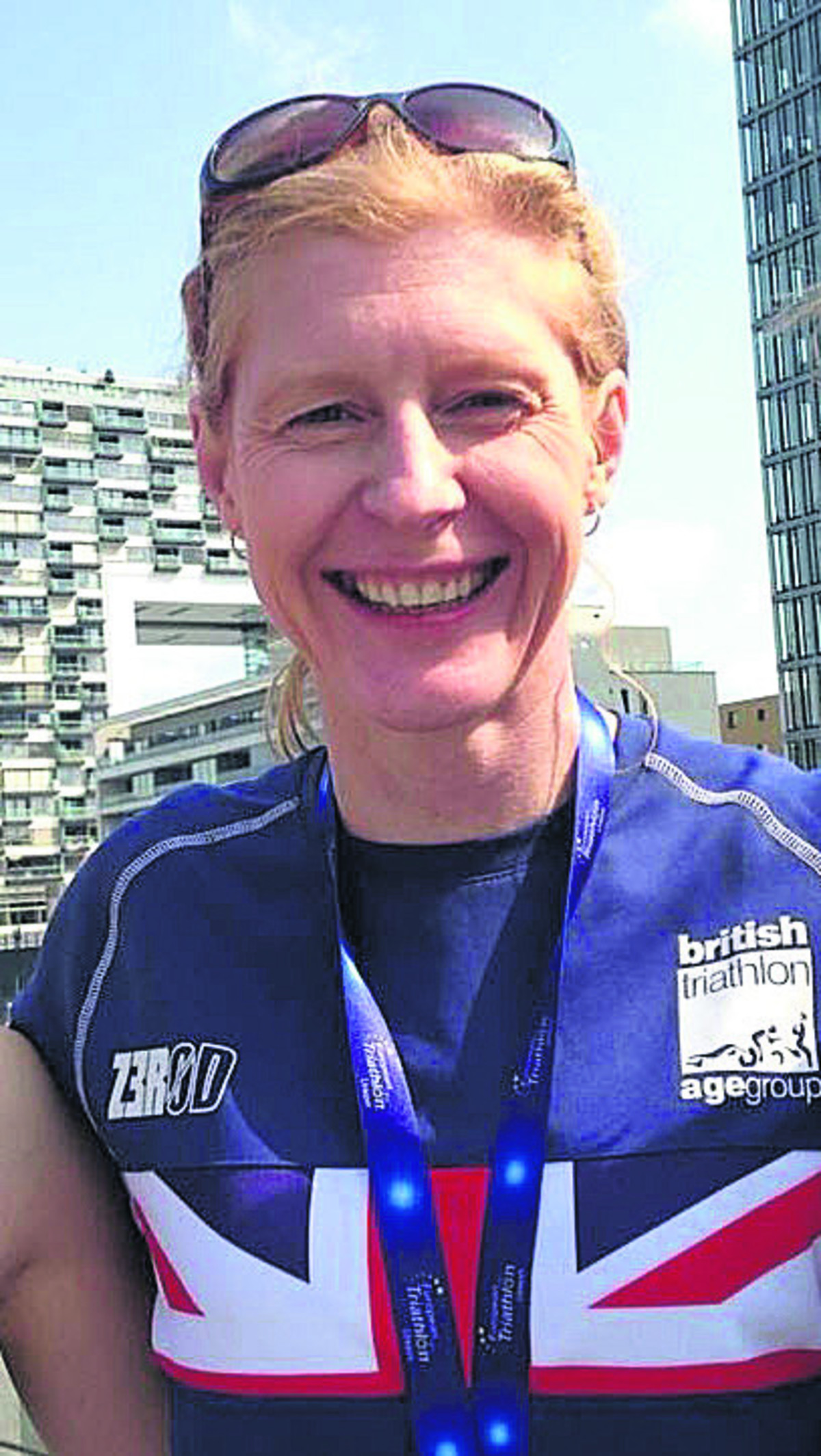 Janette Cardy was crowned European Aquathon champion following her success in Cologne