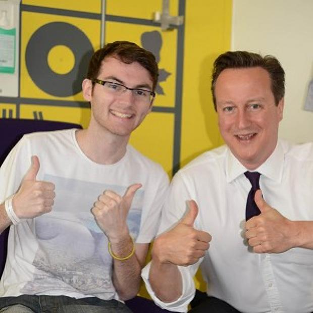 Witney Gazette: Stephen Sutton with Prime Minister David Cameron
