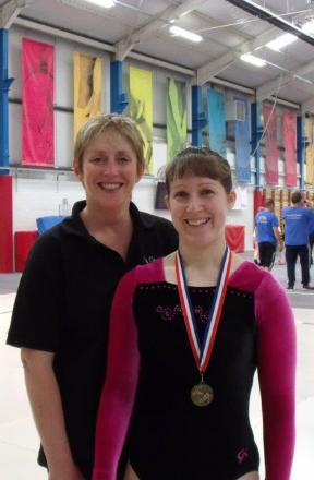 Carterton coach Debra Courtenay-Crane with gold medal winner Kate D