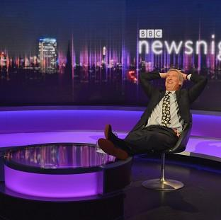 Witney Gazette: Newsnight's Jeremy Paxman, as he bowed out of the show after 25 years (BBC/PA).