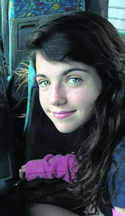 Liberty Baker, 14, who was killed in the crash on Curbridge Road, Witney, yesterday morning