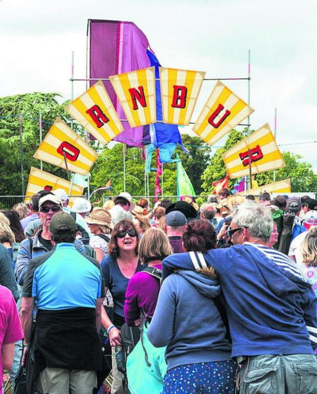 Witney Gazette: A crowd gathers at the entrance gate     Picture: Des Brambley