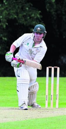 Shipton's Ross Barrett put together a 112--run partnership with Calvin Dickinson to lay the platform for their six-wicket win against Falkland on Saturday