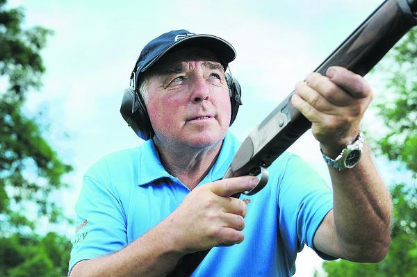 Clay pigeon shooting champion John Bidwell