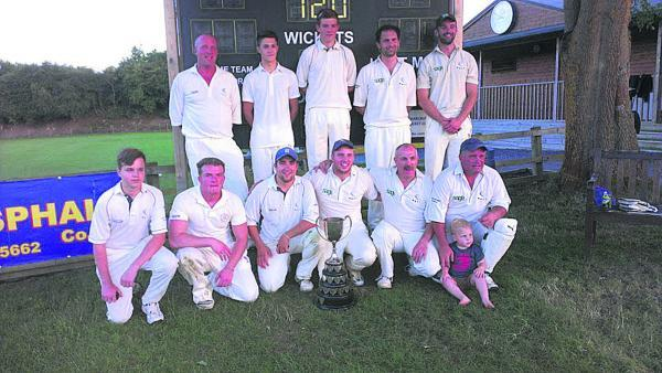 Witney Swifts show their delight are winning the Ernie Clack Cup for the third time