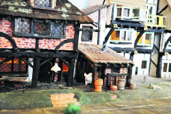One of the mice takes a tour of the village. Picture: OX68754 Mark Hemsworth