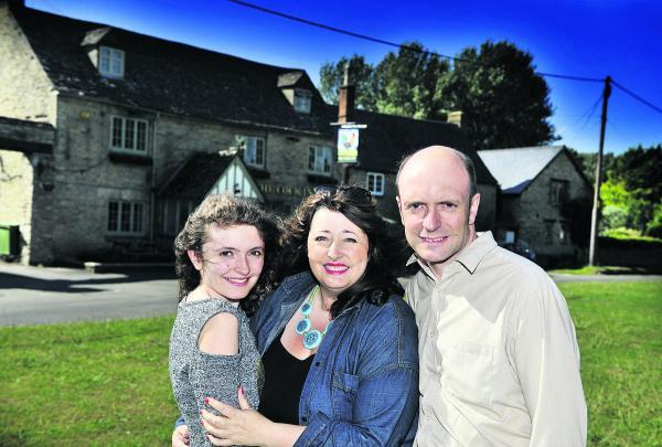 Andrew Smith, right, with partner  Victoria Frazer-Smith and daughter Livvi  Frazer-Smith