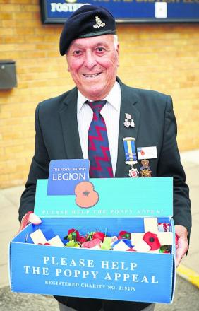 Jim Lewendon is handing on the baton as county chairman of the Royal British Legion but will continue to do his bit for the annual Poppy Appeal. Picture: OX69017 Cliff Hide