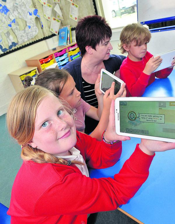Pupils are logging on to a new way of learning