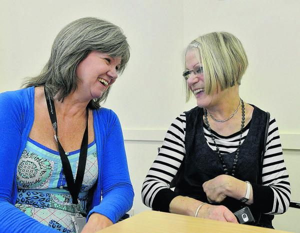 Breda Lamb, left, at the Cornhill Centre in Banbury, with service user Brenda Stevens