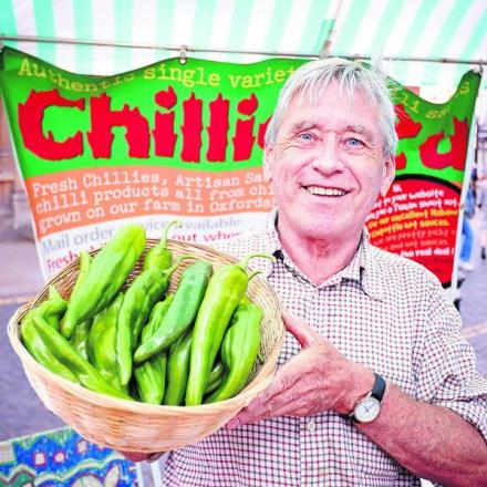 Ian Paxton, who farms chillis in Churc