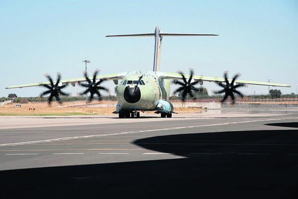 The first RAF A400M Atlas undergoes ground tests in Spain. Picture: Airbus Defence & Space