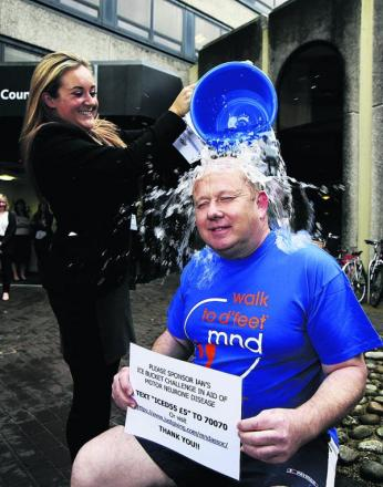 Oxfordshire County Council leader Ian Hudspeth's ice bucket challenge