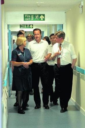 Prime Minister and Witney MP David Cameron on a tour of Witney Community Hospital's new Emergency Multidisciplinary Unit in June. The review of food took