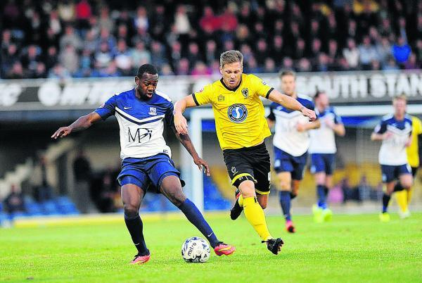 Myles Weston (left) in action for Southend this week. The forward came close to signing for Oxford U