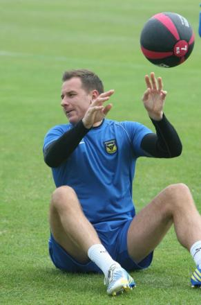 Ryan Clarke has returned to full training with Oxford United after recovering from a foot operat
