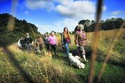 Dog lovers ramble off to boost Blue Cross funds