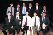Great Tew 2nd, who won Division 2, pictured with guest of honour Michael Vaughan