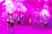 Runners will be taking part in Run or Dye at Cornbury Park on Saturday